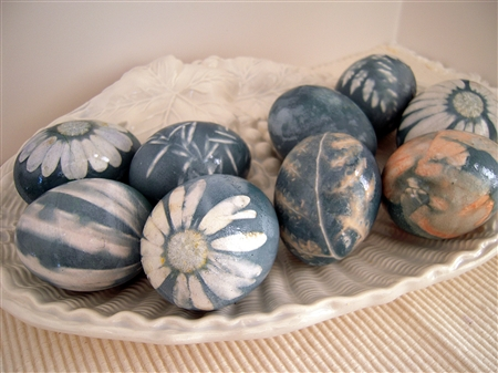 Natural Dye Colored Easter Eggs