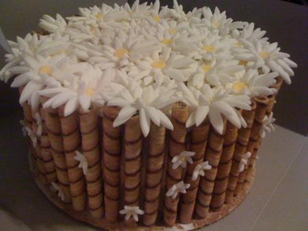 تزیین کیک به شکل سبد گل