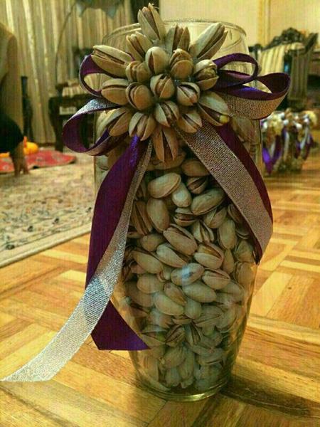 تزیین آجیل شب عید، تزئین آجیل عروس