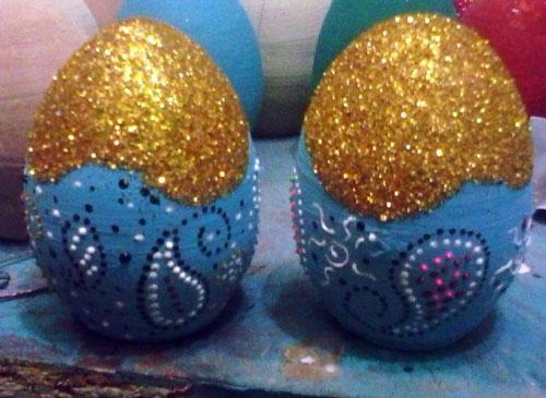 تزیین تخم مرغ , نقاشی نقطه ای