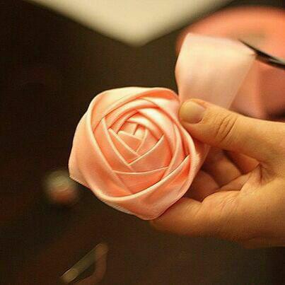 ساخت دسته گل عروس , دسته گل روبانی