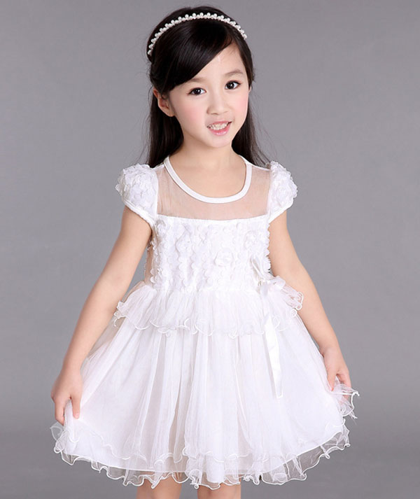 مدل لباس چند دامنه , لباس مجلسی بچه گانه