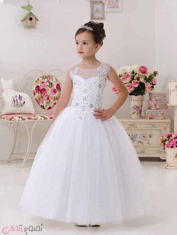 مدل لباس عروس بچه گانه , لباس مجلسی بچه گانه