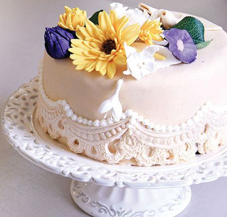 نان، شیرینی، دسر  , تزیین کیک با خمیر فوندانت / آموزش تصویری