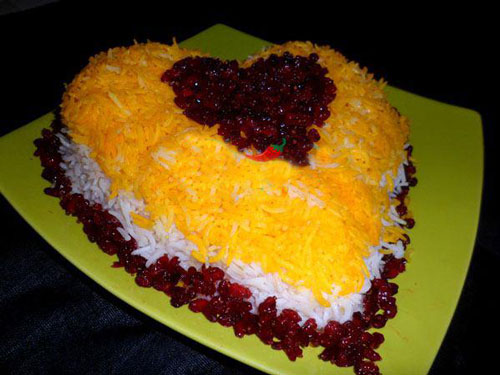 تزیین برنج قالبی , تزئین برنج مجلسی