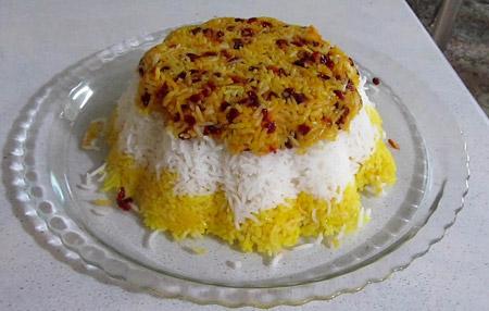 انواع تزیین برنج,آموزش تزیین برنج,عکس های تزیین برنج