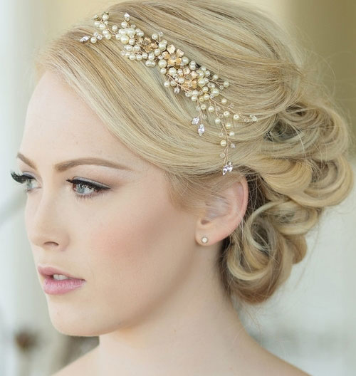 مدل تاج عروس , عکس آرایش موی عروس
