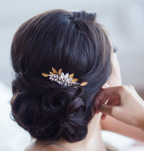 گل سر عروس , شینیون موی عروس