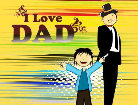 کارت پستال روز پدر, کارت تبریک روز پدر