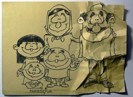 کاریکاتور مفهومی , تصویر روز پدر