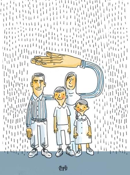 کاريکاتور روز پدر جديد • مجله تصوير زندگي