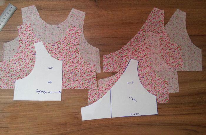 آموزش دوخت لباس دخترانه تابستانی