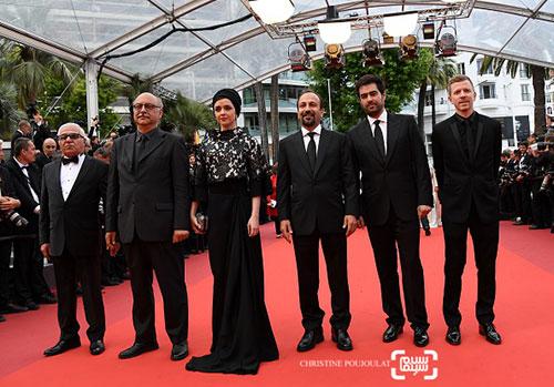 عوامل فیلم فروشنده در جشنواره کن
