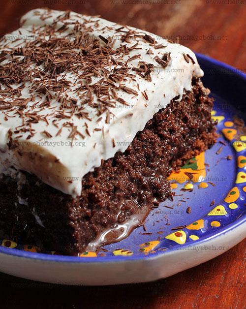 کیک سه شیر سه شکلاتی