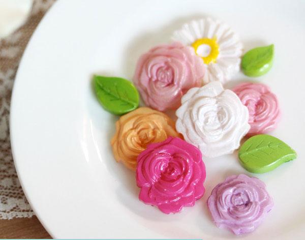 ساخت گل تزیینی با چسب