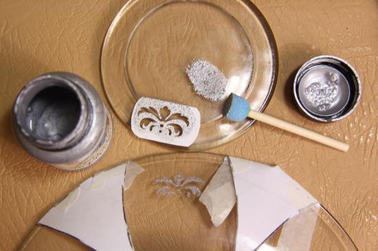 آموزش دکوپاژ  , تزیین بشقاب شیشه ای با عکس / آموزش دکوپاژ