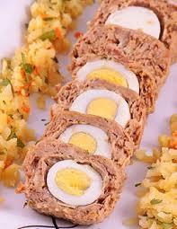رولت تن ماهی و تخم مرغ