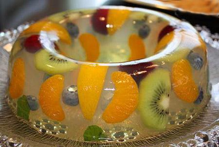 تزیین ژله با میوه,عکس تزیین ژله با میوه,تزیین ژله با میوه تابستانی