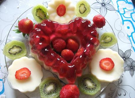 عکس تزیین ژله با میوه,تزیین ژله با میوه تابستانی, تزئین ژله با میوه