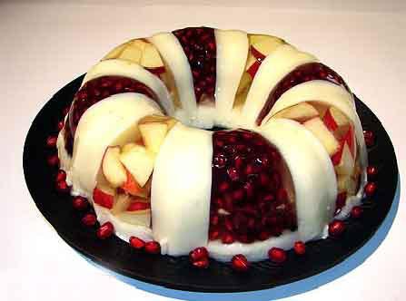 تزیین دسر ژله با میوه,ژله شیشه ای با میوه, تزیین ژله با میوه های مختلف