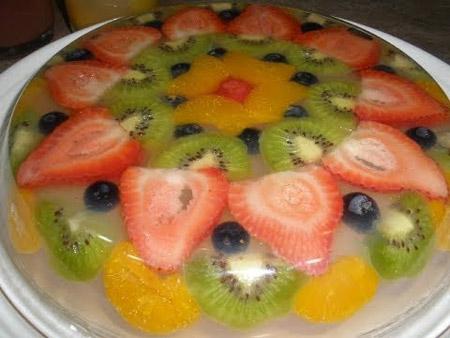 تزیین دسر ژله با میوه, ژله شیشه ای با میوه,تزیین ژله با میوه های مختلف