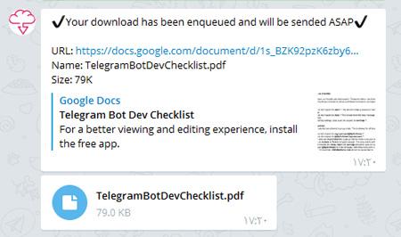 لینک غیرمستقیم , ربات های تلگرام, محیط چت تلگرام