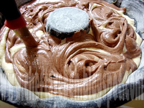 کیک کره ای , کیک دو رنگ