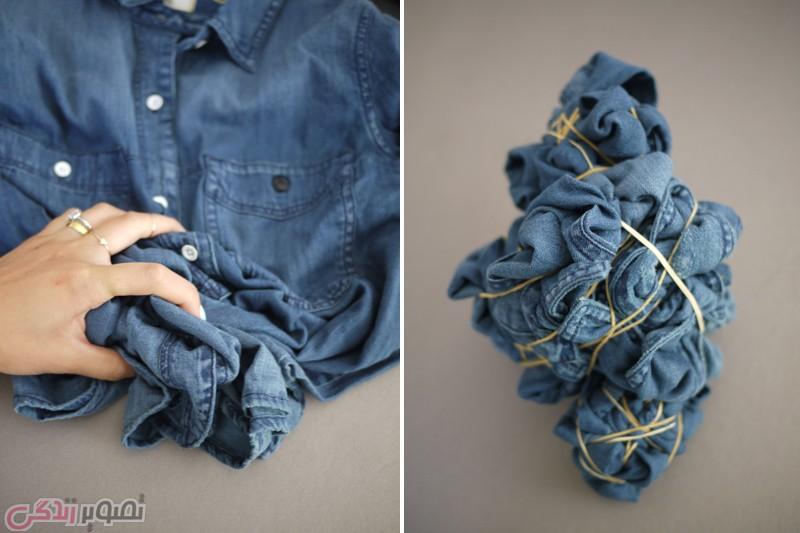 ابر و بادی کردن لباس , چاپ گرهی