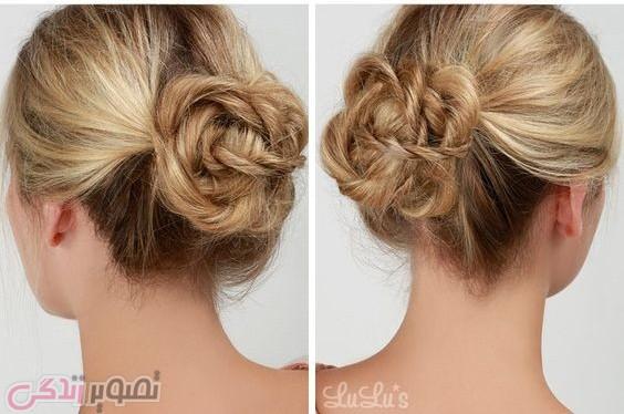 آرایش موهای بلند , شینیون ساده