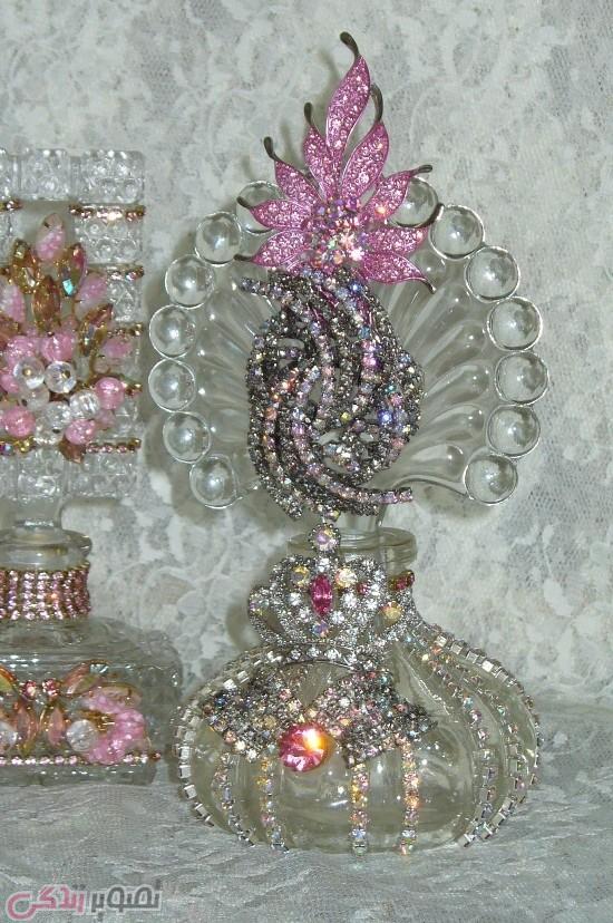 تزیین ظروف شیشه ای / جواهر کاری / نماجواهر