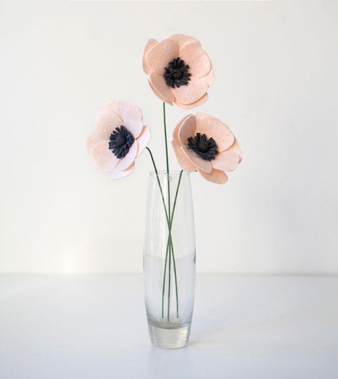 آموزش ساخت گل نمدی ، آموزش گلسازی