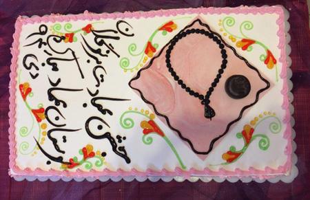 کیک جشن تکلیف,کیک جشن تکلیف دخترانه,طرح کیک جشن تکلیف