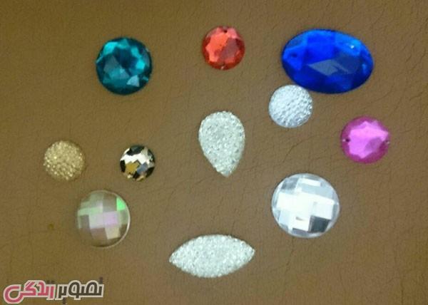 نما جواهر گلدان , جواهر کاری , تزیین ظروف شیشه ای