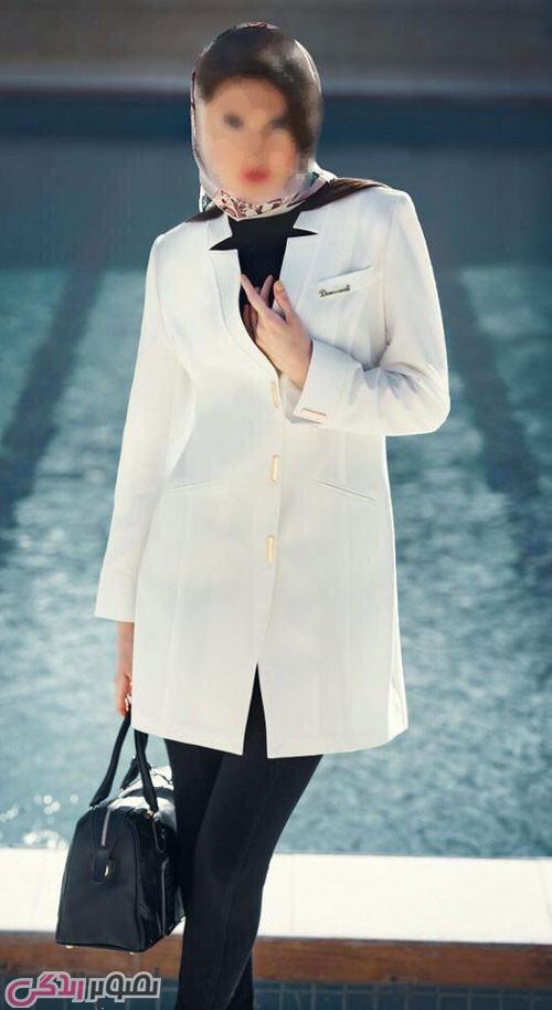 مدل مانتو کوتاه دخترانه,مانتو سفید شیک