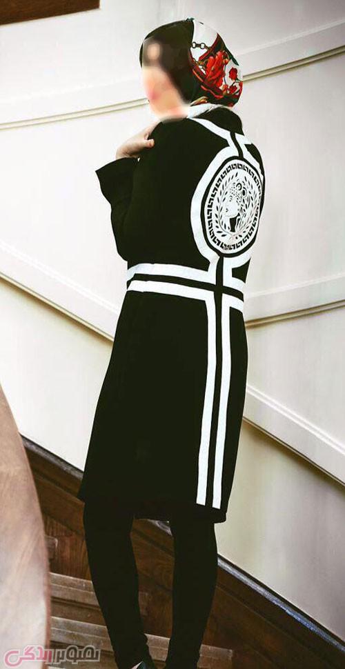 مدل مانتو مجلسی سفید و مشکی , مدل مانتو 2016