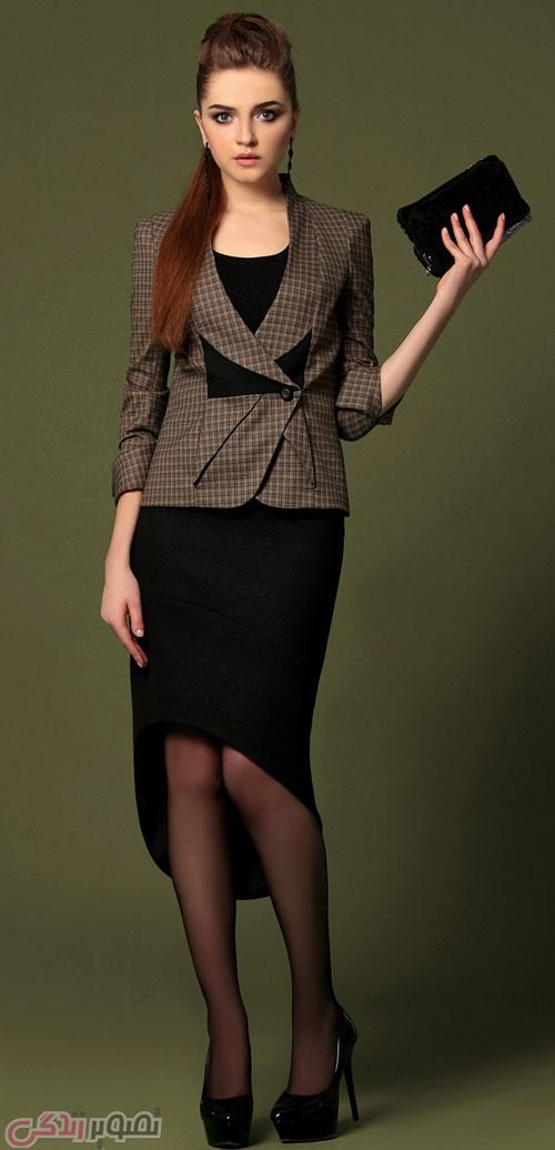 مدل کت و دامن شیک / کت و شلوار مجلسی زنانه