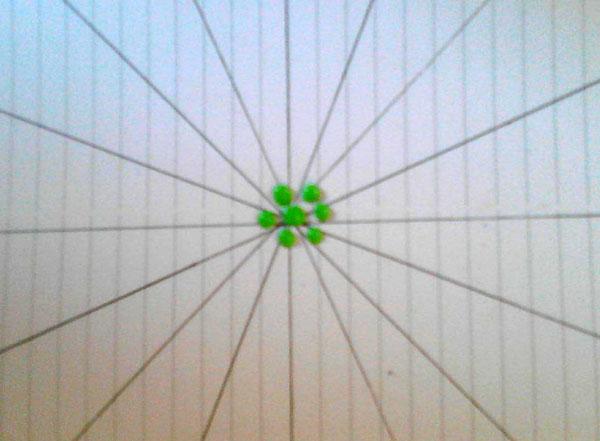 نقطه کوبی روی سفال , نقاشی نقطه ای