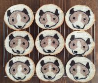 نان تست نقاشی شده,نان با طرح حیوان