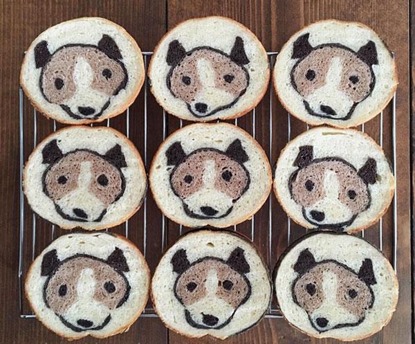نان با طرح حیوان