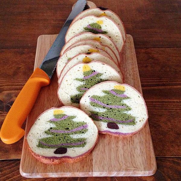 نان تست با طرح های زیبا