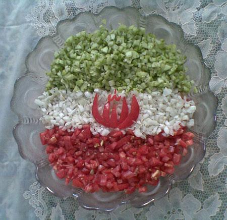 تزیین سالاد شیرازی مجلسی,تزیین سالاد شیرازی,عکس تزیین سالاد شیرازی