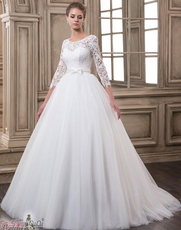 شنل آستین دار عروس لباس عروس آستین دار / لباس عروس پوشیده • مجله تصویر زندگی