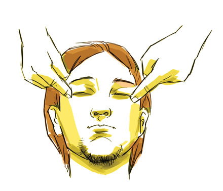 رفع خستگی چشم با ماساژ