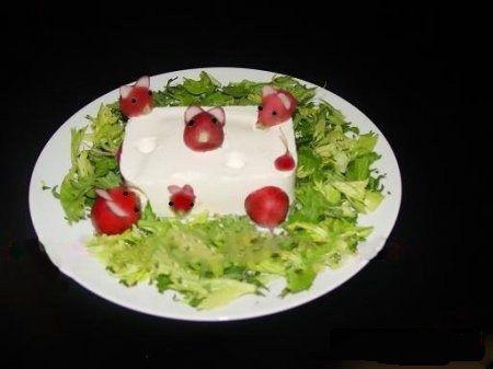 تصاویر تزیین نان و پنیر و سبزی, تزیین نان و پنیر و سبزی افطاری