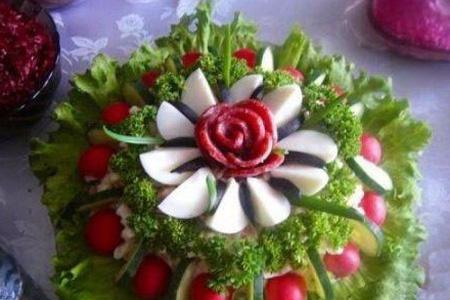 تصاویر تزیین نان پنیر سبزی افطاری,تزیین پنیر برای افطار