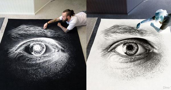 عکس نقاشی های حیرت انگیز , نقاشی با نمک