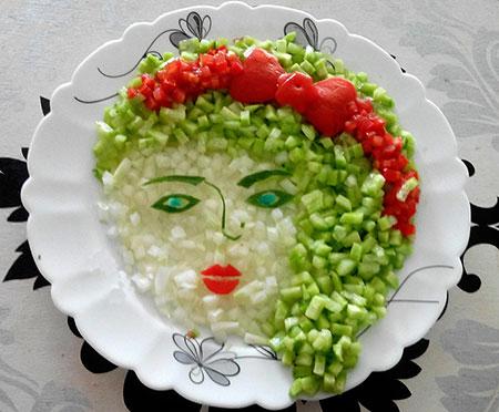 تزیین سالاد شیرازی,عکس تزیین سالاد شیرازی,انواع تزیین سالاد شیرازی