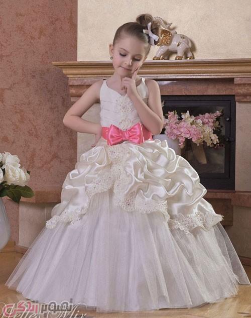 مدل لباس عروس بچه گانه , لباس مجلسی دخترانه