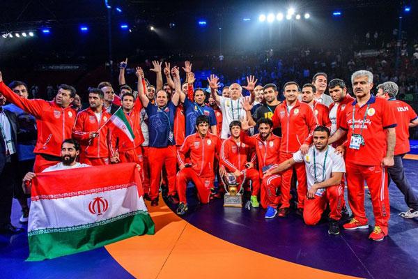تیم ملی کشتی آزاد ایران برای هفتمین بار قهرمان جهان شد