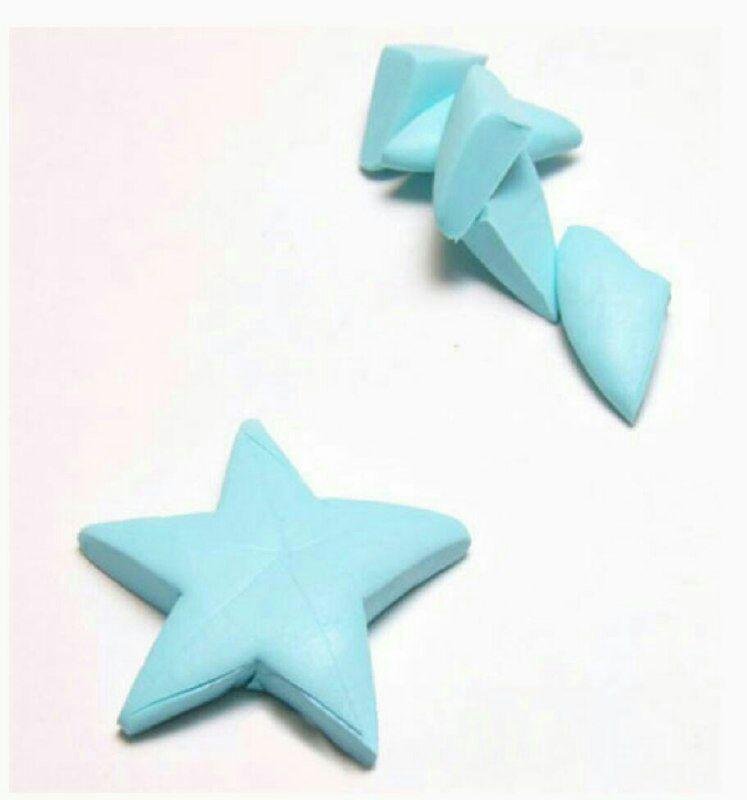 ساخت گوشواره ستاره ای با خمیر ,خمیر پلیمری